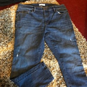 Loft Distressed Relaxed Skinny Jeans Size 12